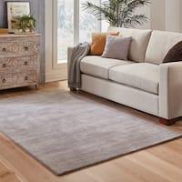 Handwoven Plush Wool Heathered Grey Rug (6' X 9') - 6' x 9'