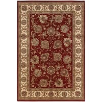 Updated Old World Persian Flair Red/ Ivory Area Rug - 6'7 x 9'6