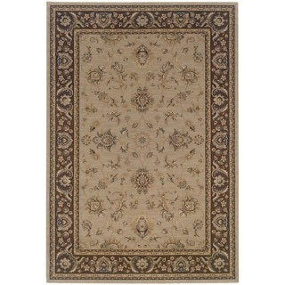 Updated Old World Persian Flair Blue/ Brown Area Rug (6'7 x 9'6)