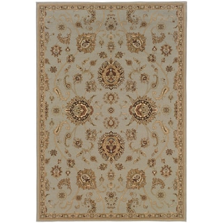 Updated Old World Persian Flair Blue/ Gold Area Rug (6'7 x 9'6)