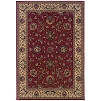 "Updated Old World Persian Flair Red/ Ivory Area Rug (6'7 x 9'6) - 6'7"" x 9'6"""