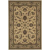 """Updated Old World Persian Flair Ivory/ Green Area Rug (6'7 x 9'6) - 6'7"""" x 9'6"""""""