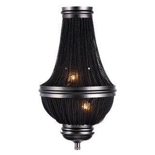 Elegant Lighting Paloma Collection 1210 Wall Sconce with Dark Grey Finish