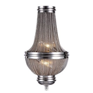 Elegant Lighting Paloma Collection 1210 Wall Sconce with Pewter Finish