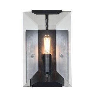 Elegant Lighting Monaco Collection 1212 Wall Sconce With Flat Black (Matte)  Finish