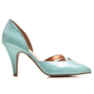 Gomax Women's Carabelle 01X D'Orsay Cut Out Mid Heel Pump