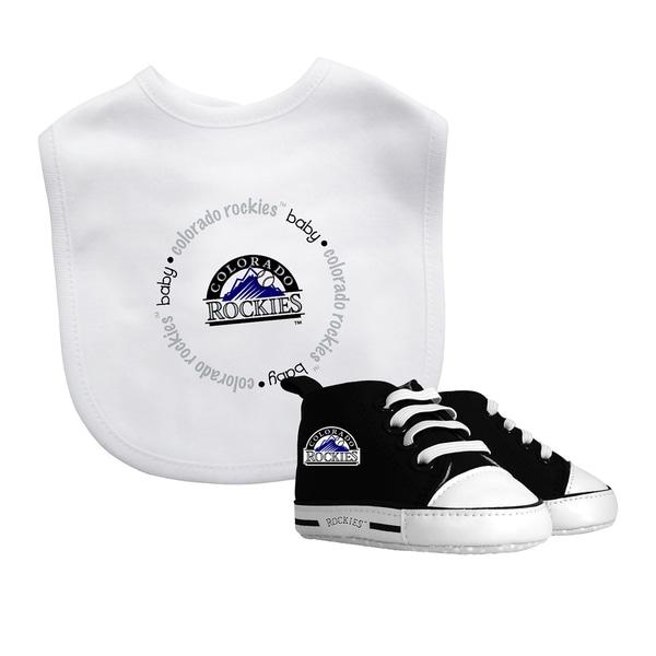 Colorado Rockies Bib and Pre-Walker Shoes Gift Set
