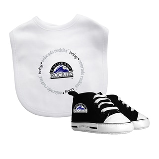 Colorado Rockies Bib and Pre-Walker Shoes Gift Set