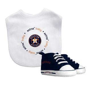 Houston Astros Bib and Pre-Walker Shoes Gift Set