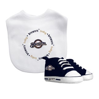 Milwaukee Brewers Bib and Pre-Walker Shoes Gift Set