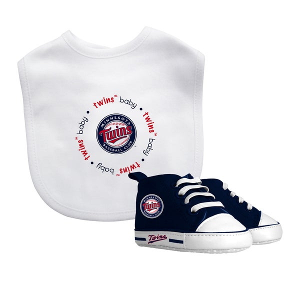 Minnesota Twins Bib and Pre-Walker Shoes Gift Set