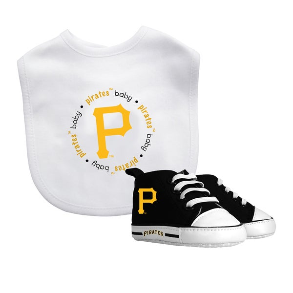 Pittsburgh Pirates Bib and Pre-Walker Shoes Gift Set