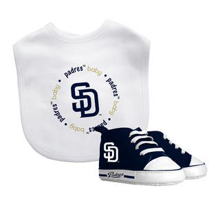 San Diego Padres Bib and Pre-Walker Shoes Gift Set|https://ak1.ostkcdn.com/images/products/10635501/P17703905.jpg?impolicy=medium