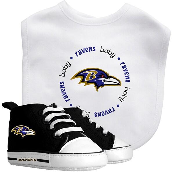 Baltimore Ravens Bib and Pre-Walker Shoes Gift Set