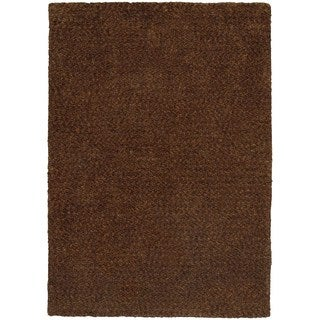 Cozy Indulgence Heathered Brown Shag Area Rug (6'6 x 9'6)
