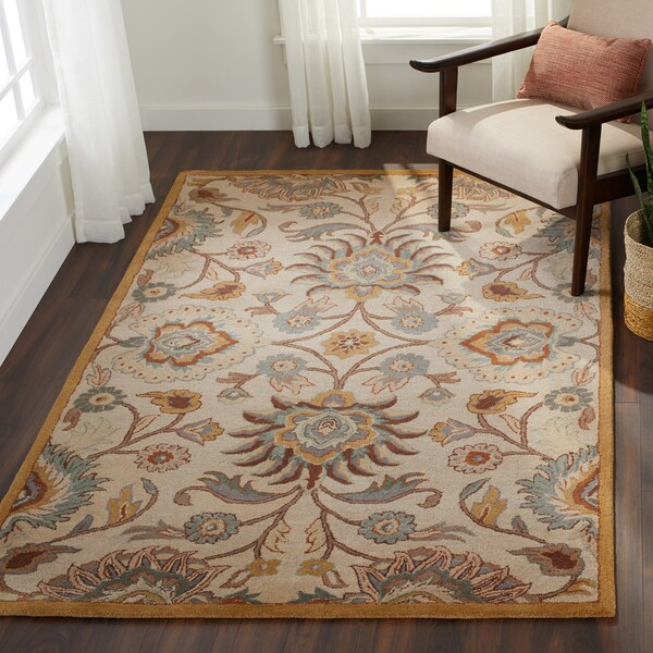 Shop Hand Tufted Patchway Wool Area Rug 5 X 8 Free Shipping On