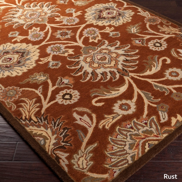 patchway hand-tufted paisley wool rug (4' x 6') - free shipping