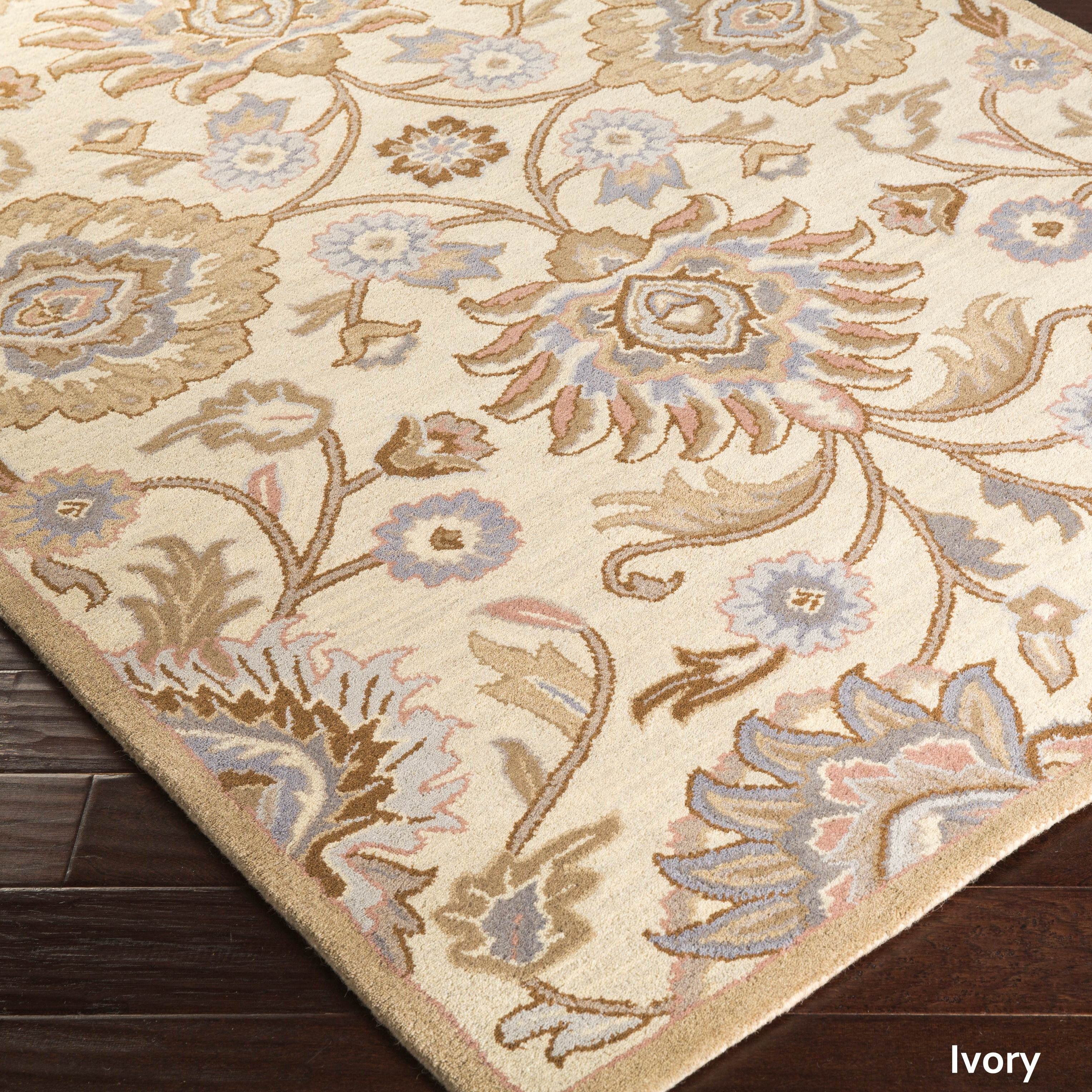 10x10 Square New Oushak Oriental Wool Area Rug: Patchway Hand-Tufted Paisley Wool Area Rug (4' X 6')