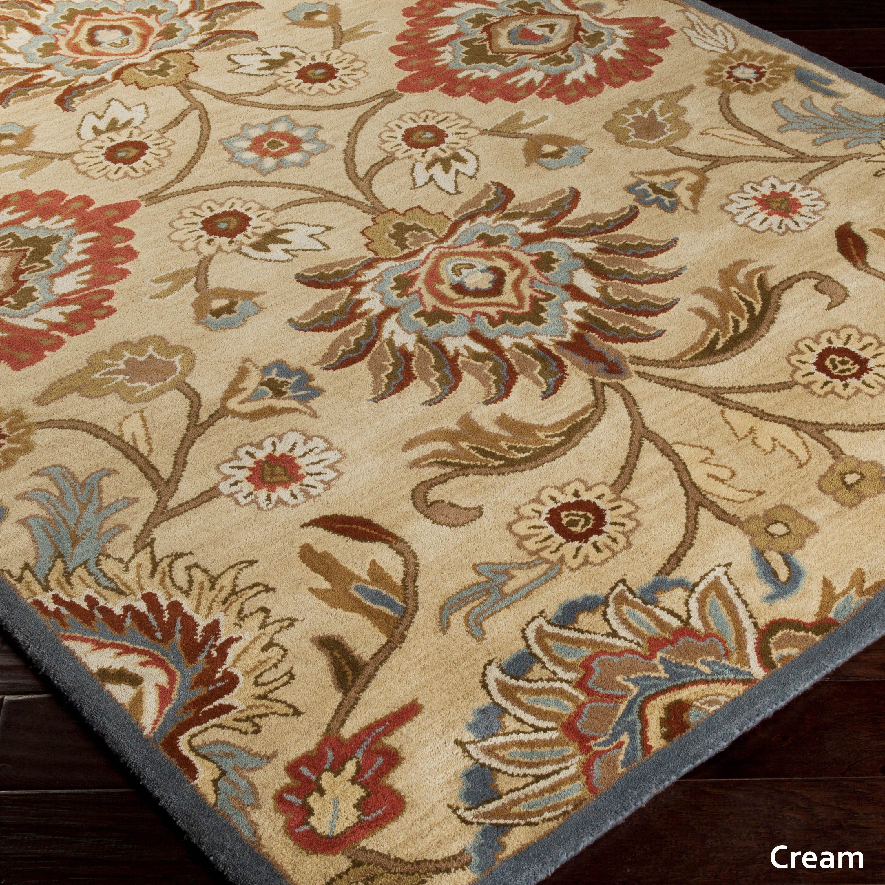 Patchway Hand Tufted Paisley Wool Area Rug 4