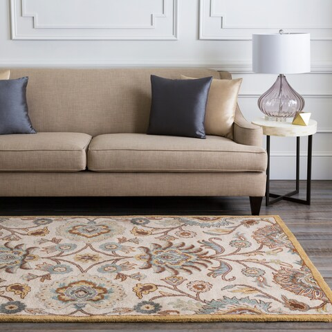 Patchway Hand-Tufted Paisley Wool Area Rug (4' x 6') - 4' x 6'