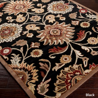 Patchway Hand-Tufted Paisley Wool Area Rug - 4' x 6' (Option: Black - Black)