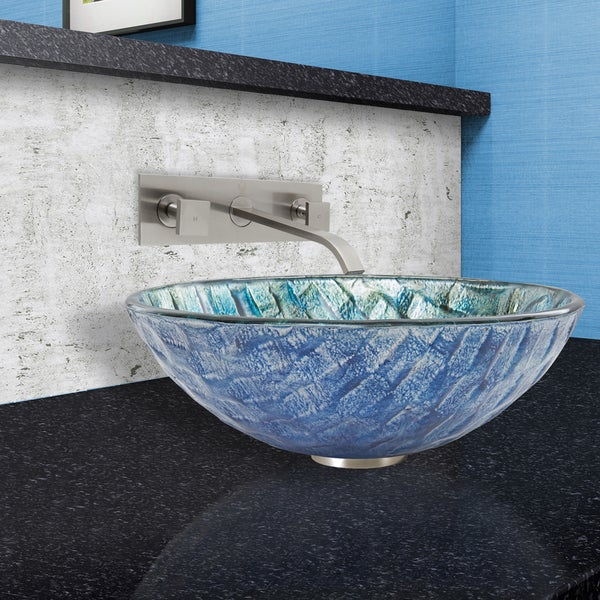 Shop Vigo Oceania Glass Vessel Sink And Titus Wall Mount