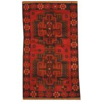 Herat Oriental Afghan Hand-knotted Tribal Balouchi Wool Rug (2'7 x 4'6) - 2'7 x 4'6