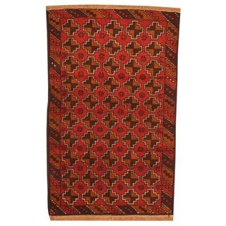 Handmade One-of-a-Kind Balouchi Wool Rug (Afghanistan) - 2'9 x 4'5