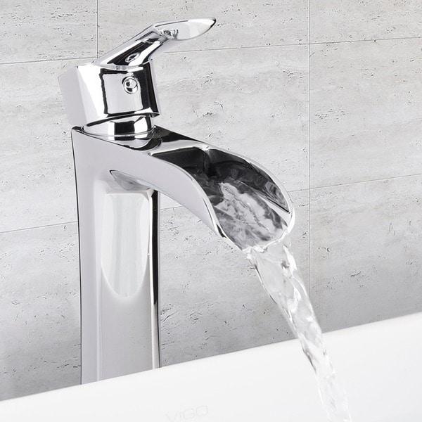 Vigo Bathroom Faucets vigo niko bathroom vessel faucet in chrome - free shipping today
