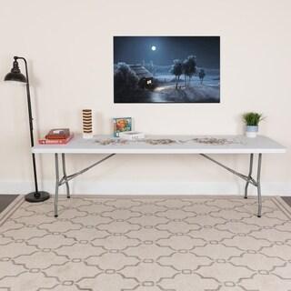 30-inch x 96-inch Granite White Plastic Folding Table