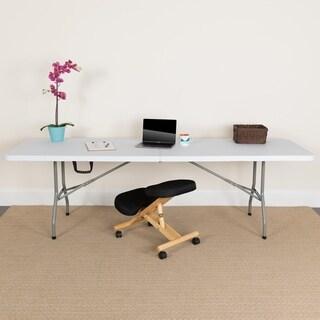 30 Inch X 96 Inch Bi Fold Granite White Plastic Folding Table