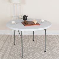 48-inch Round Granite White Plastic Folding Table