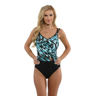 Miraclesuit Women's Turquoise Animal Print Bethany Swimsuit