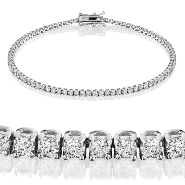 815d07029e1f Shop Eco-Friendly 14k White Gold 2ct TDW Lab-Grown Diamond Tennis ...