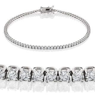Eco-Friendly 14k White Gold 2ct TDW Lab-Grown Diamond Tennis Bracelet (H-I/VS1-VS2)