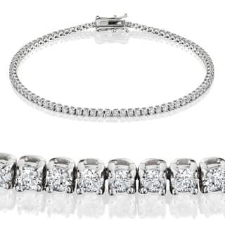 Eco-Friendly 14k White Gold 2ct TDW Lab-Grown Diamond Tennis Bracelet|https://ak1.ostkcdn.com/images/products/10638630/P17706697.jpg?impolicy=medium