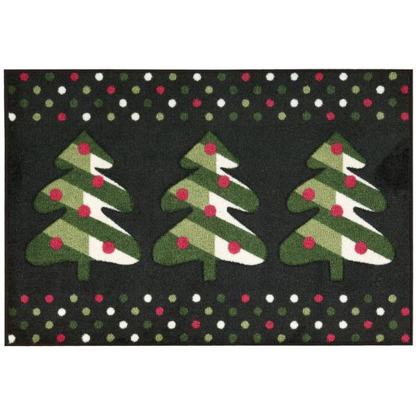 Nourison Accent Decor Xmas Black Accent Rug (2' x 3')