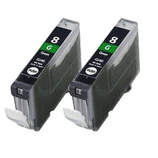 2PK CLI-8 Green Compatible Inkjet Cartridge For Canon PIXMA Pro 9000 ( Pack of 2 )