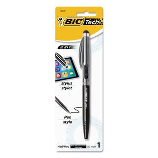 BIC Tech 2 in 1 Pink Breast Cancer Awareness Retractable Ball Pen and Stylus