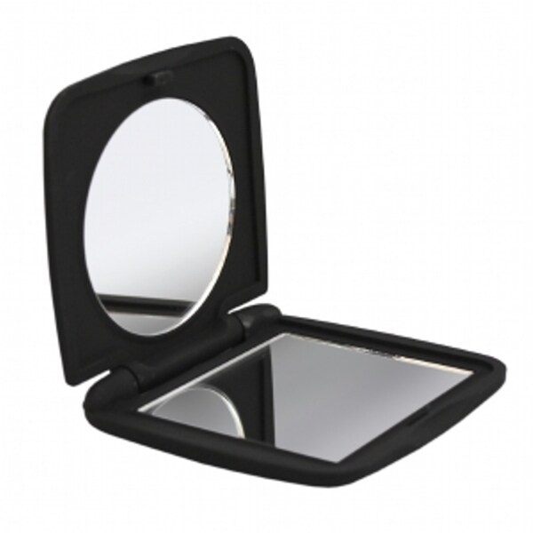 Shop Soft Touch Compact Mirror Black Free Shipping On