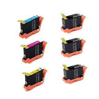 6 Pack 3 x 150XL BK + 150XL CMY Compatible Ink Cartridge For Lexmark Pro715 ink Pro715 Lexmark Pro915 ink (Pack of 6)