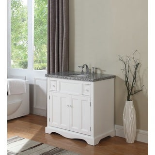 Crawford & Burke Morton 35-inch Vanity Base with Stone Top and Sink