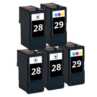 5 Pack 3 x 18C1428 (#28) + 2 x 18C1429 (#29) Compatible Ink Cartridge For Lexmark Lexmark X2500 X5075 (Pack of 5)