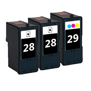 3 Pack 2 x 18C1428 (#28) + 18C1429 (#29) Compatible Ink Cartridge For Lexmark Lexmark X2500 X5075 (Pack of 3)