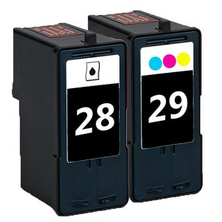 2 Pack 18C1428 (#28) + 8C1429 (#29) Compatible Ink Cartridge For Lexmark Lexmark X2500 X5075 (Pack of 2)