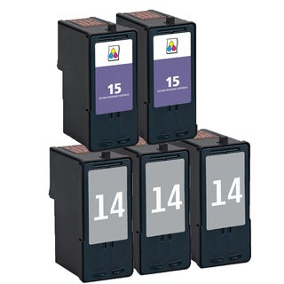5 Pack 3 x 18C2090 (#14) + 2 x 18C2110 (#15) Compatible Ink Cartridge For Lexmark X3530/Z1410 (Pack of 5)