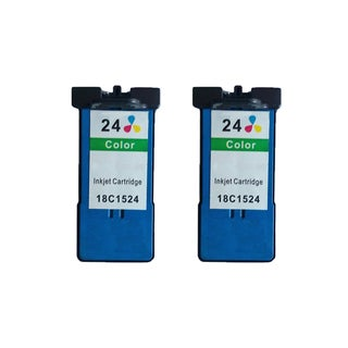2 Pack 18C1524 (#24) Color Compatible Ink Cartridge For Lexmark X3530/Z1410 (Pack of 2 )