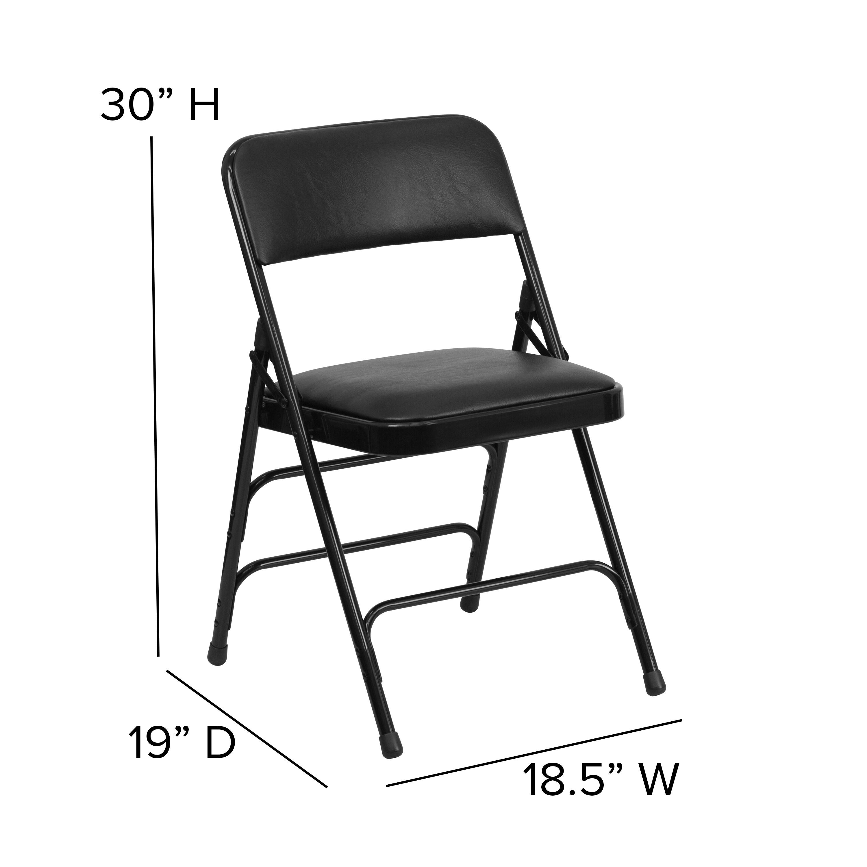 Swell Hercules Series Curved Triple Braced And Quad Hinged Vinyl Upholstemetal Folding Chair Evergreenethics Interior Chair Design Evergreenethicsorg