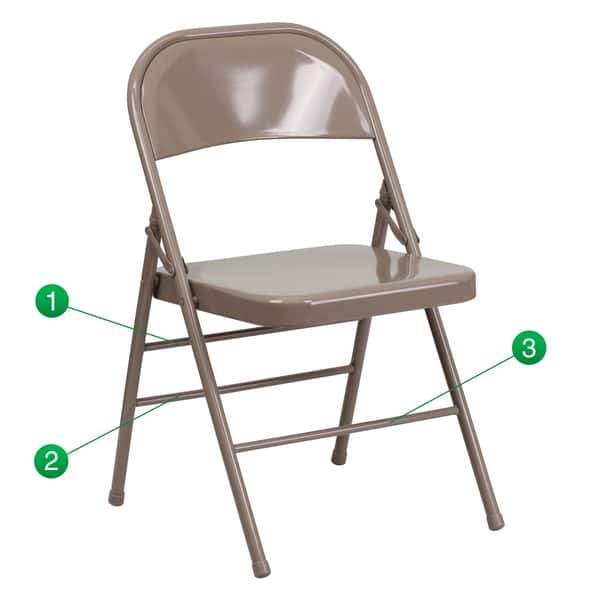 Stupendous Shop Hercules Series Triple Braced And Double Hinged Metal Caraccident5 Cool Chair Designs And Ideas Caraccident5Info