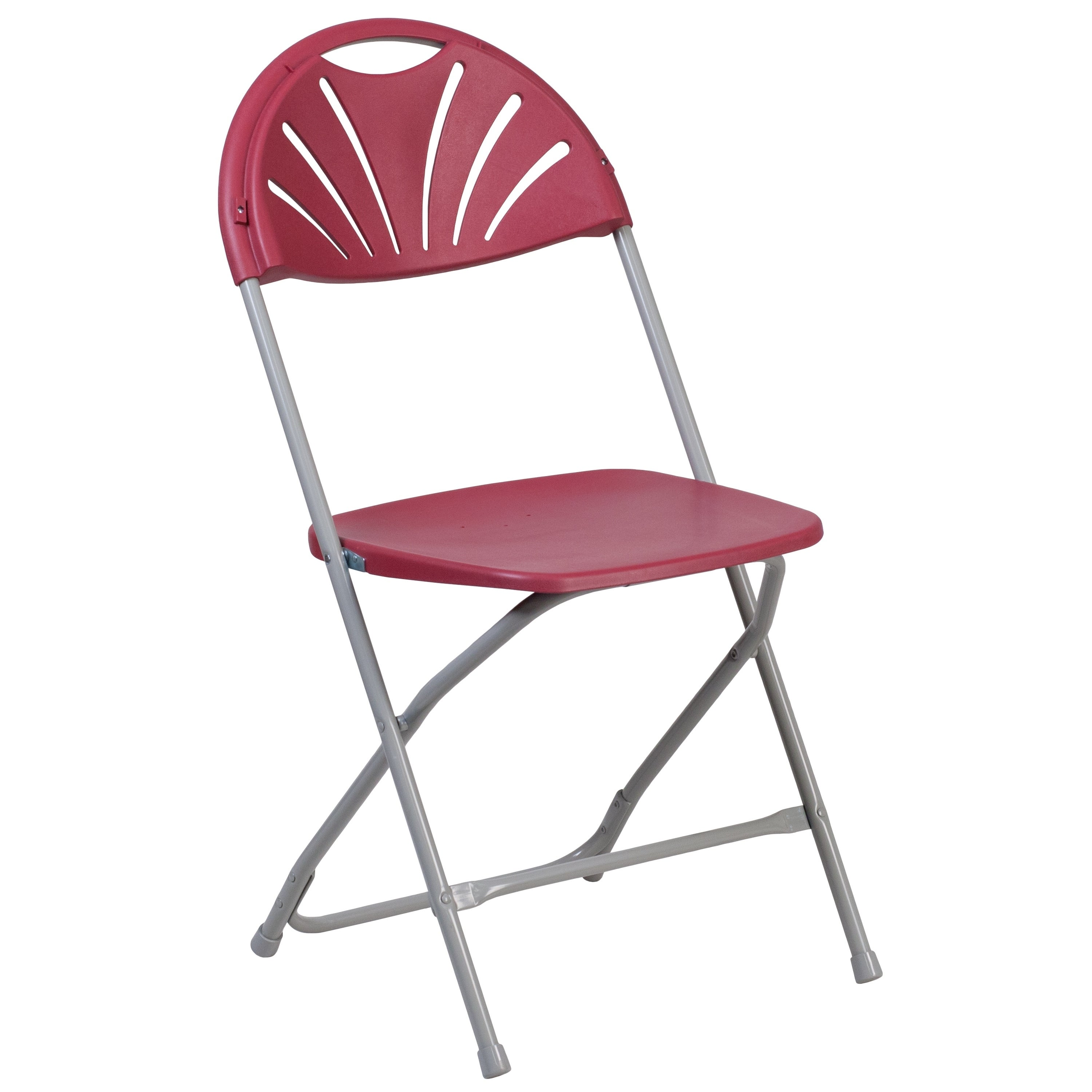 Shop Hercules Series 800 Pound Capacity Plastic Fan Back Folding Chair    Free Shipping On Orders Over $45   Overstock   10638881